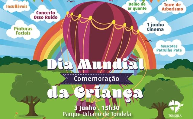 DIA MUNDIAL DA CRIANÇA a comemorar em Tondela no Parque da Cidade