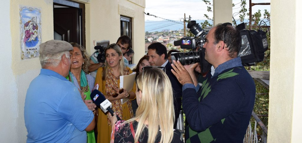 COMUNICAÇÃO SOCIAL DO PAÍS visitou obras de reabilitação de habitações destruídas pelo incêndio de 2017