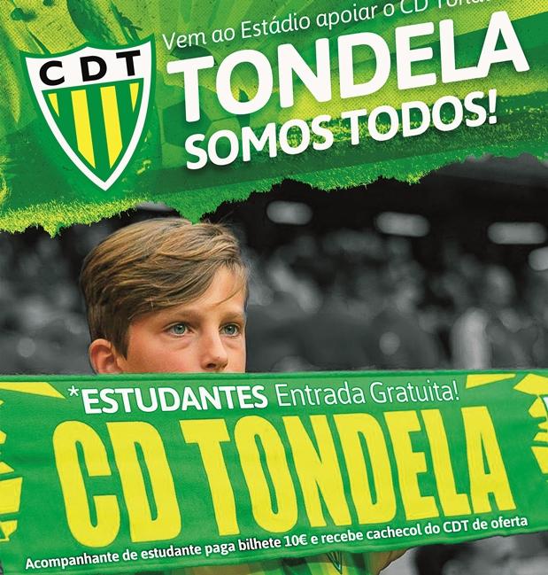 """CAMPANHA """"SOMOS TODOS TONDELA"""": estudantes não pagam bilhete nos jogos do CDT"""
