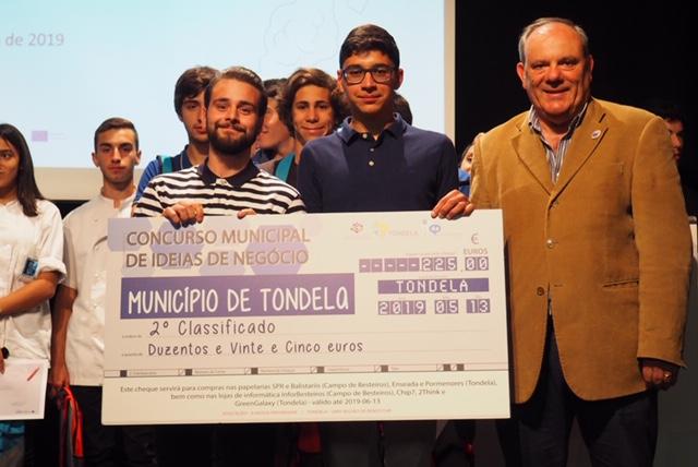 ESCOLA PROFISSIONAL DE TONDELA vence a final municipal do concurso ideias negócio