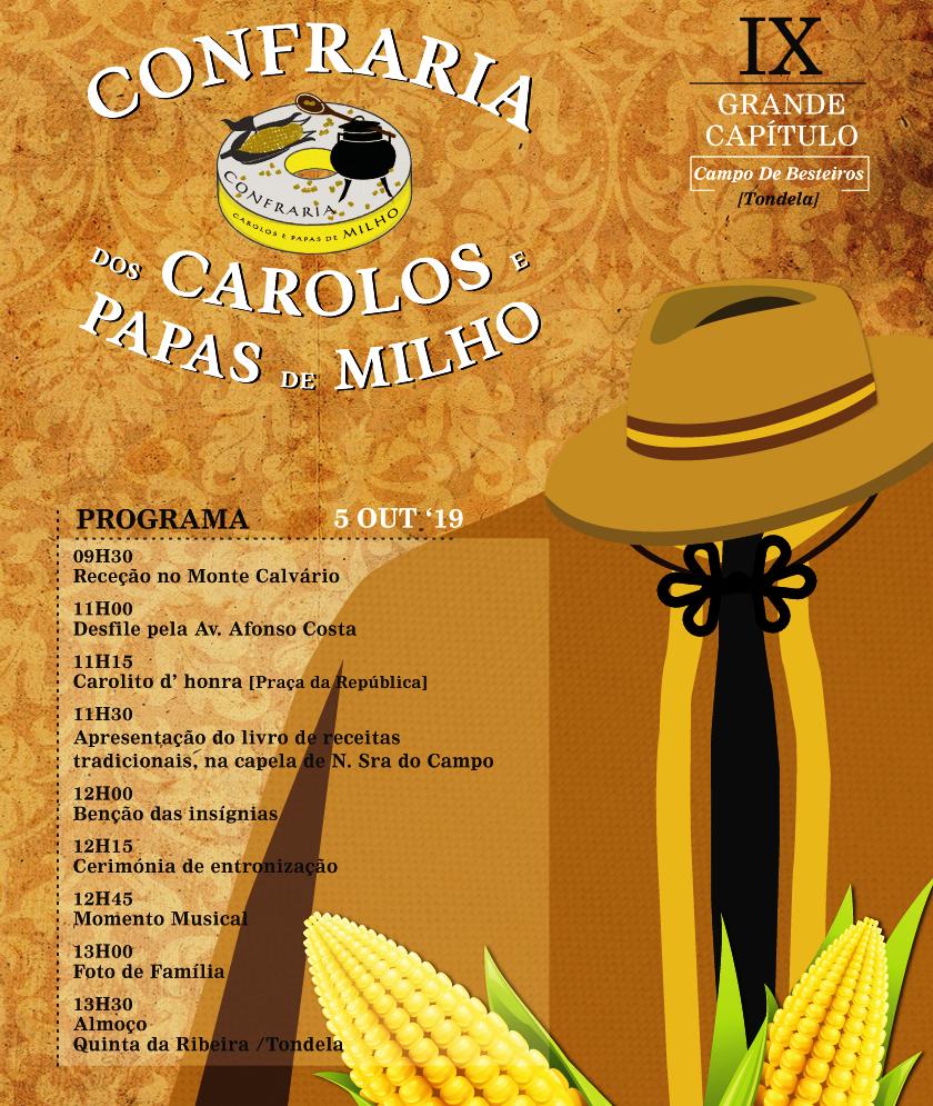 IX GRANDE CAPÍTULO DA CONFRARIA DOS CAROLOS realiza-se em Campo de Besteiros e Tondela