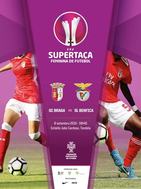 O BENFICA E O BRAGA EM TONDELA para disputar a supertaça em Futebol Feminino